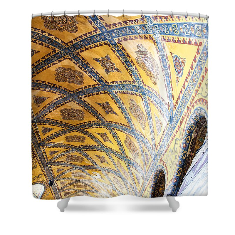 Hagia Shower Curtain featuring the photograph Hagia Sofia Interior 16 by Antony McAulay