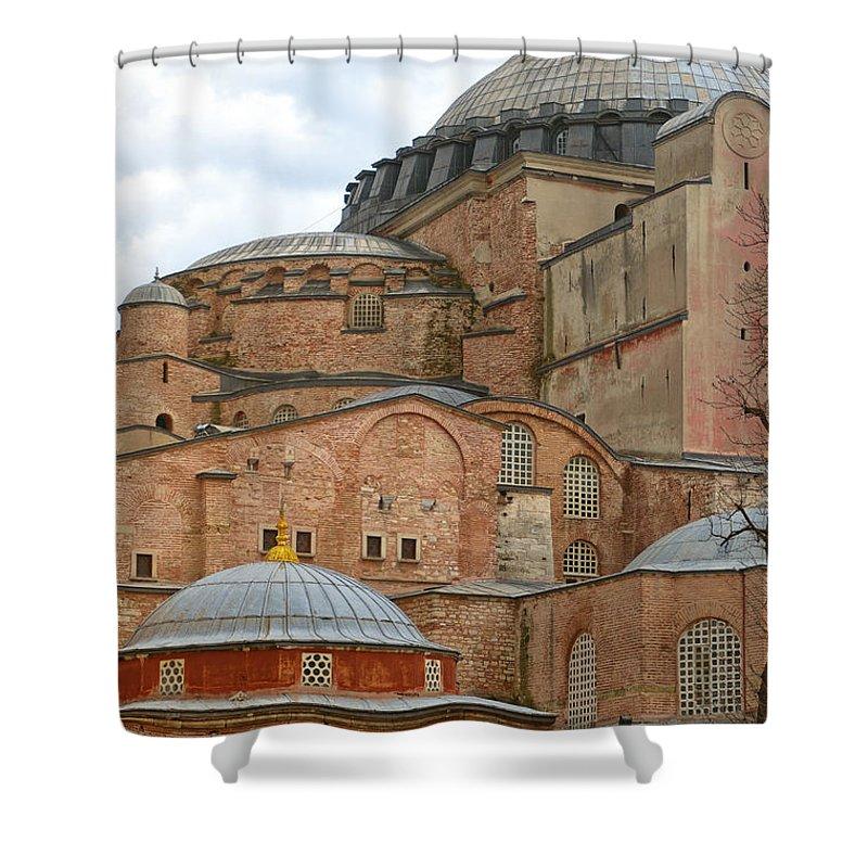 Turkey Shower Curtain featuring the photograph Hagia Sophia 04 by Antony McAulay