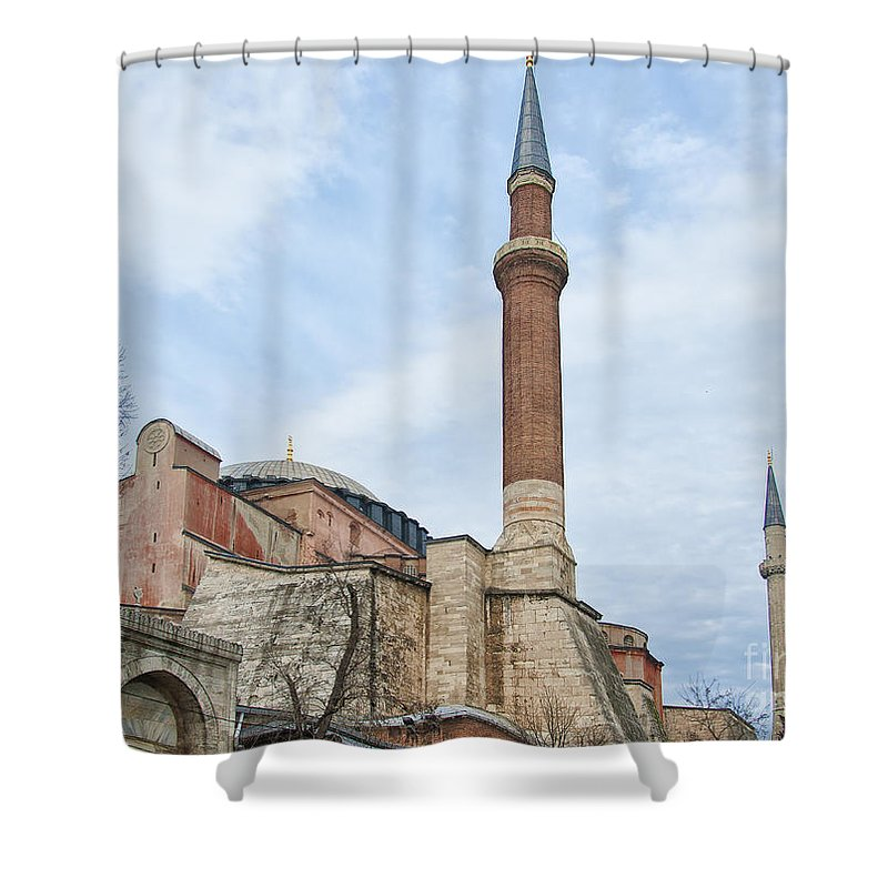 Turkey Shower Curtain featuring the photograph Hagia Sophia 15 by Antony McAulay