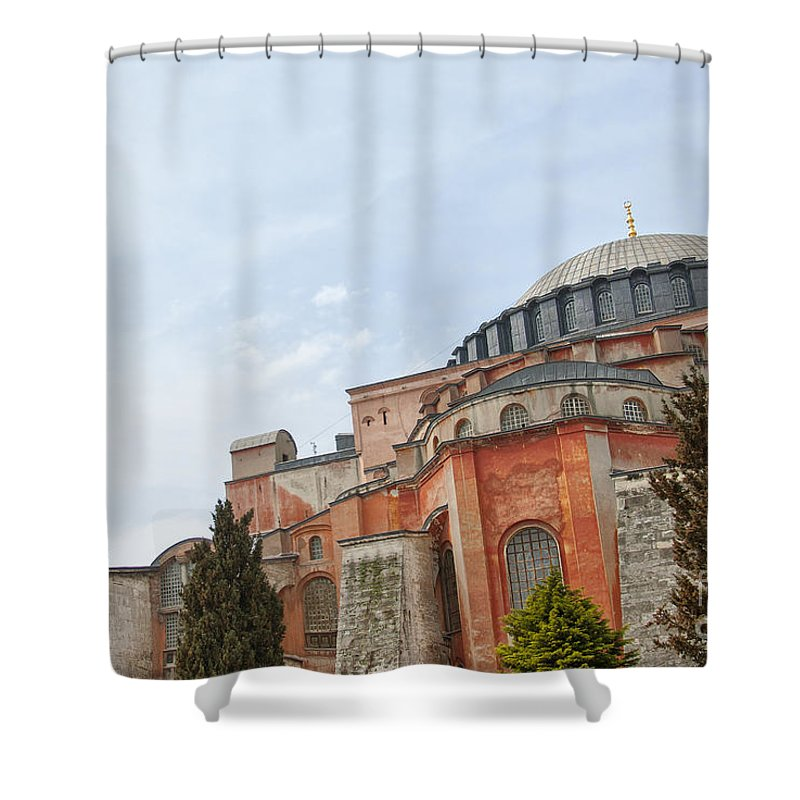 Turkey Shower Curtain featuring the photograph Hagia Sophia 17 by Antony McAulay