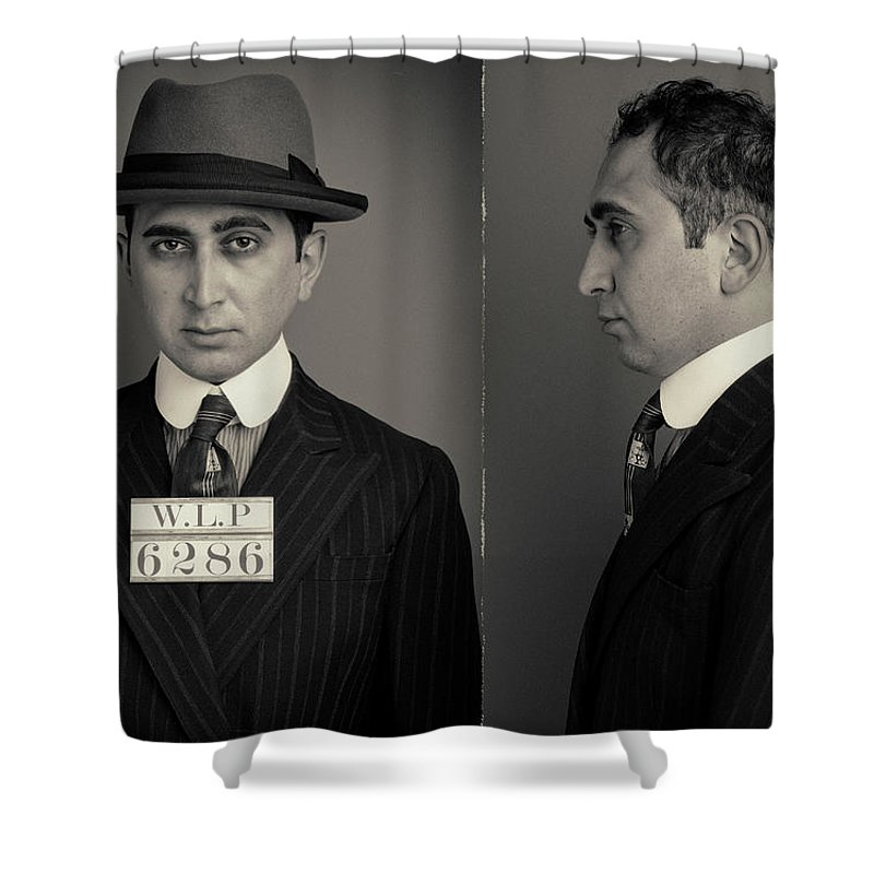 Guilt Shower Curtain featuring the photograph Hakan The Boss Wanted Mugshot by Nick Dolding