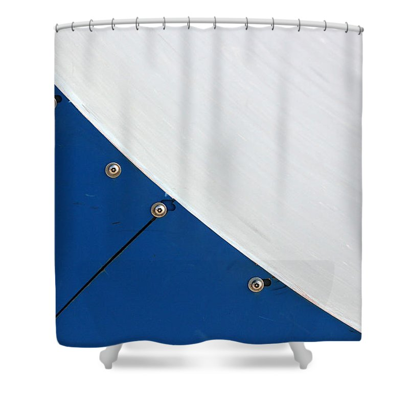 Half Pipe Shower Curtain featuring the photograph Half Pipe Abstract 4 by Mary Bedy