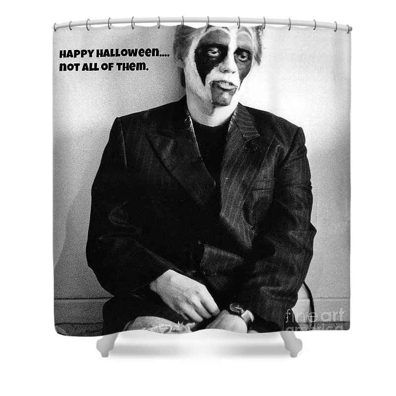 Halloween Shower Curtain featuring the photograph Halloween Let Down by John Malone