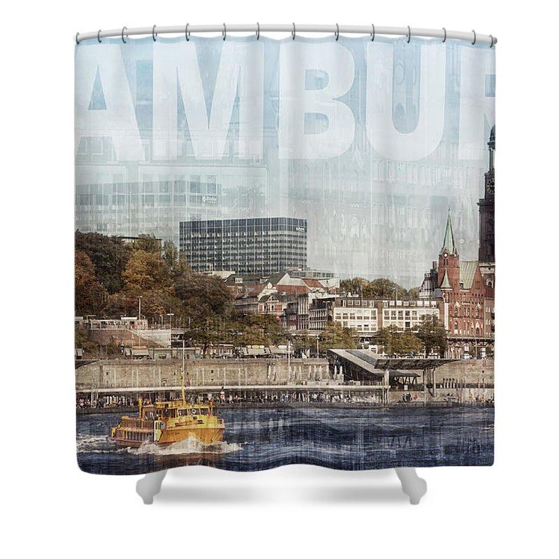 Hamburg Shower Curtain featuring the photograph Hamburg by Claudia Moeckel
