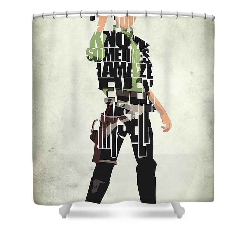 Han Solo Shower Curtain featuring the painting Han Solo Vol 2 - Star Wars by Inspirowl Design