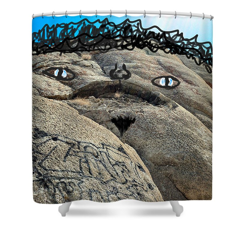 Silly Shower Curtain Featuring The Photograph Handsome Jabba Hut Rock By Brent Dolliver
