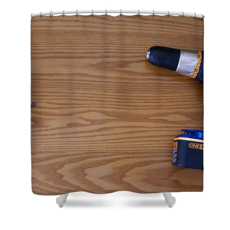Drill Shower Curtain featuring the photograph Handyman by Big E tv Photography