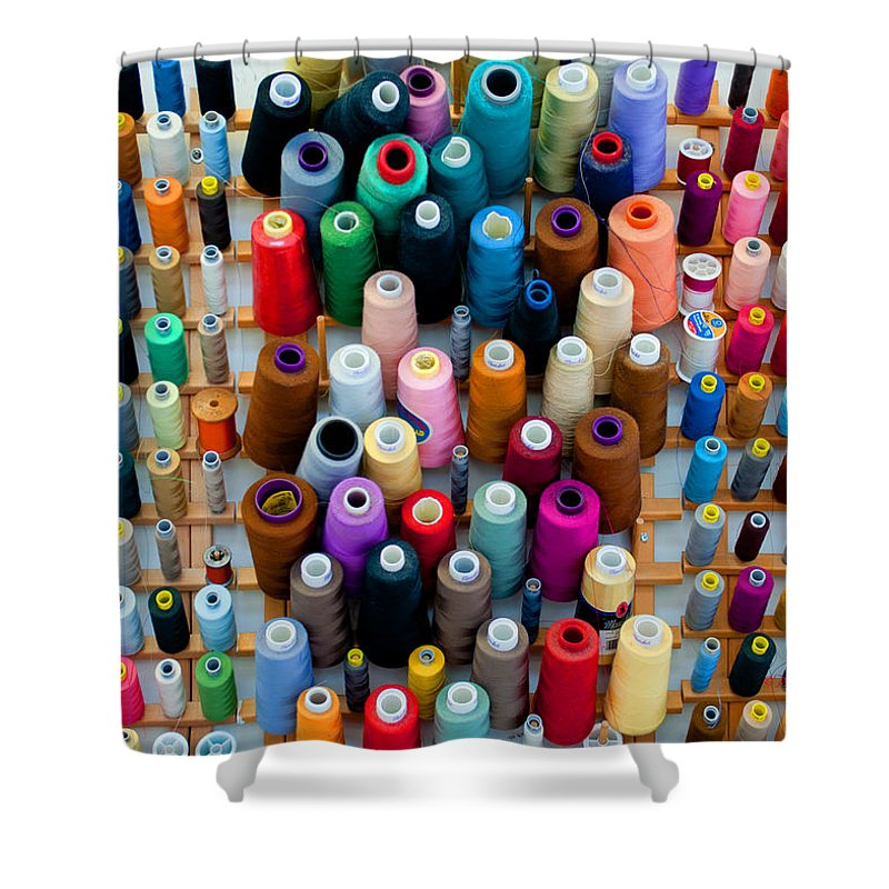 Art Shower Curtain featuring the photograph Hanging By Many Threads by Paulette B Wright