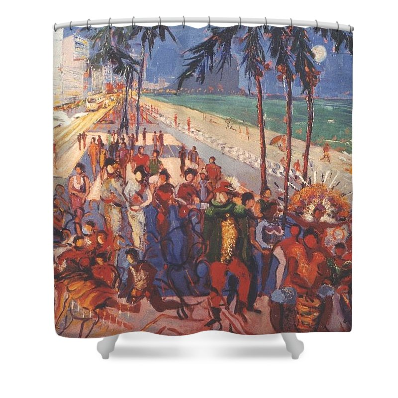 Rio De Janeiro Shower Curtain featuring the painting Happening by Walter Casaravilla