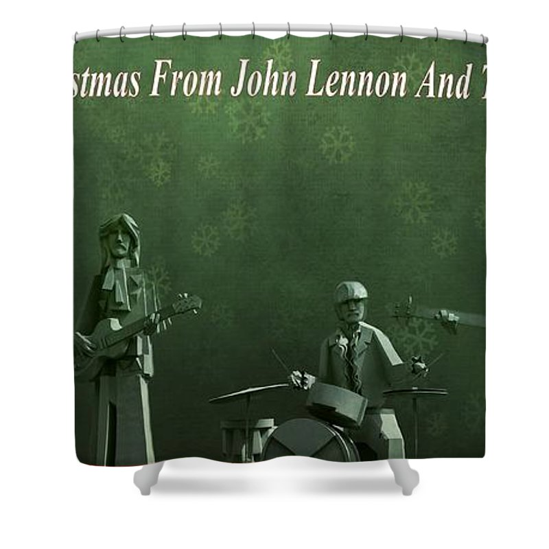 Happy Christmas From John Lennon Shower Curtain featuring the photograph Happy Christmas From John Lennon by Dan Sproul