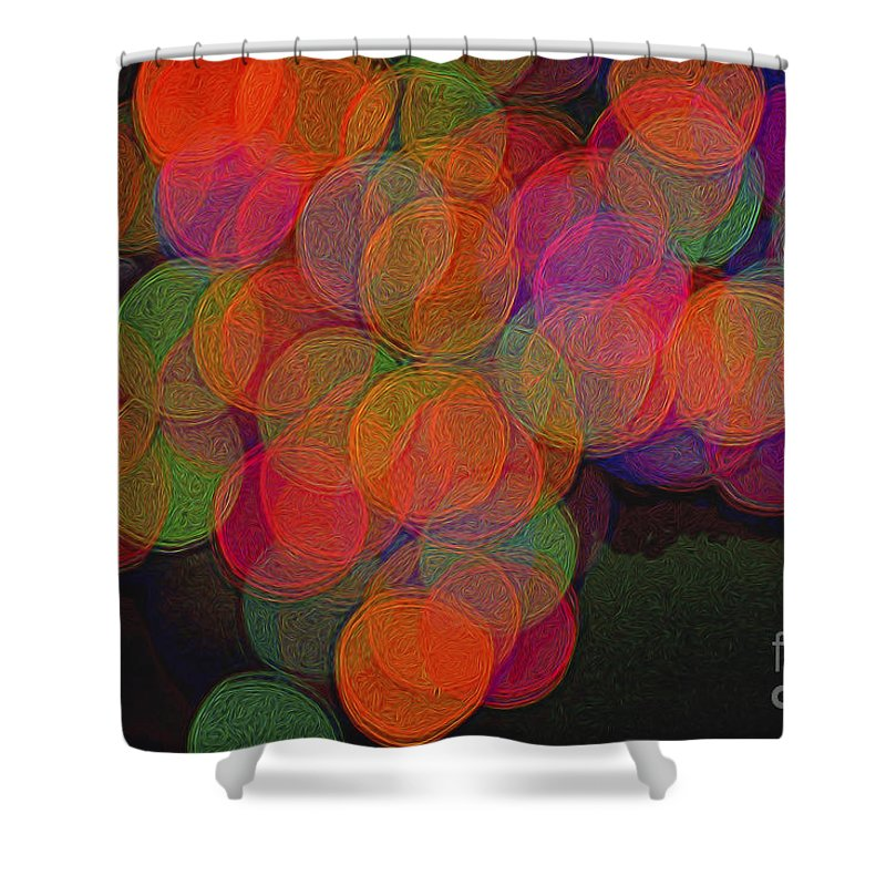 Happy Grapes Shower Curtain featuring the photograph Happy Grapes by Norman Gabitzsch
