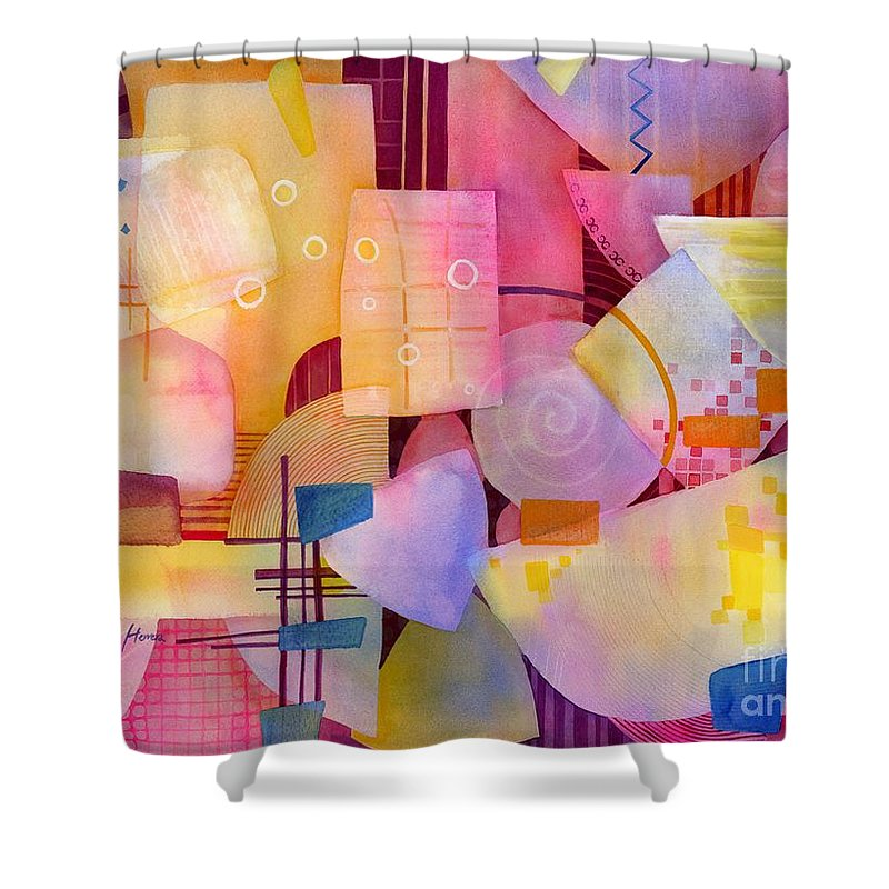 Food Shower Curtain featuring the painting Happy Hour by Hailey E Herrera