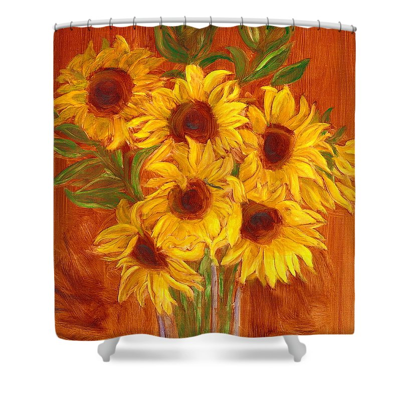 Still Life Shower Curtain featuring the painting Happy Mother's Day by Paula Emery