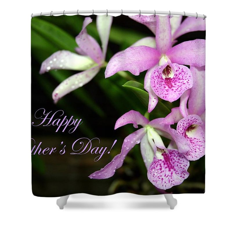 Purple Shower Curtain featuring the photograph Happy Mothers Day by Pharaoh Martin