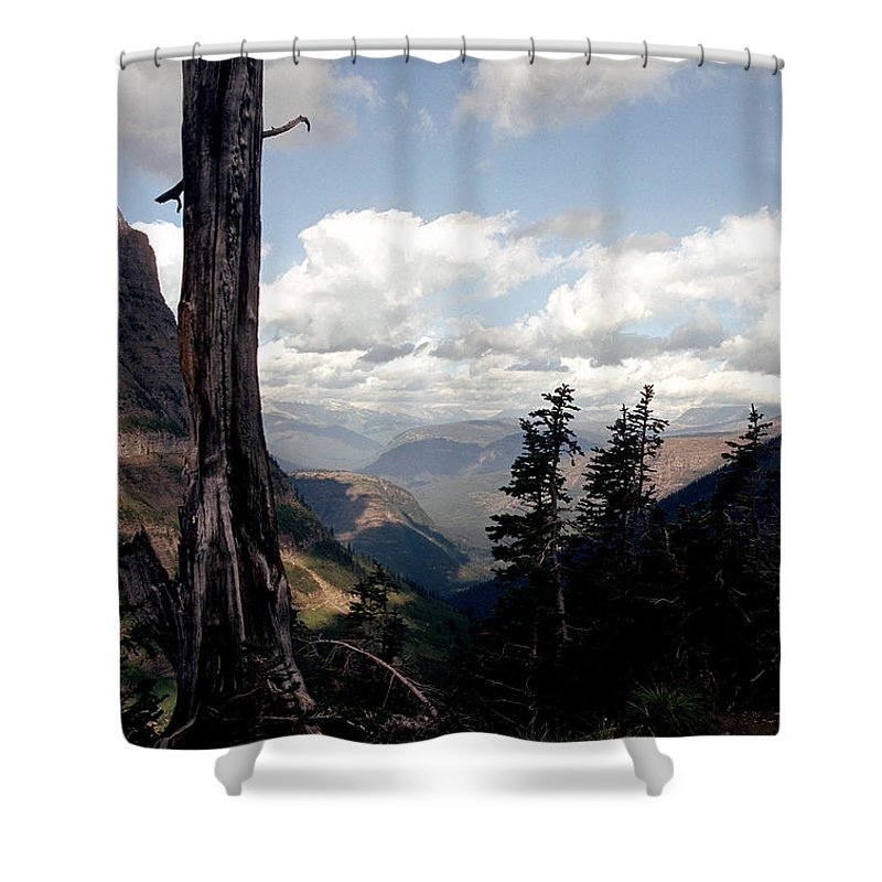 Glacier Park Shower Curtain featuring the photograph Hard To Live At 7000 Feet by Sharon Elliott