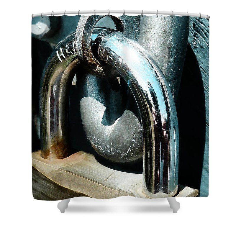 Gate Shower Curtain featuring the photograph Hardened by Steve Taylor