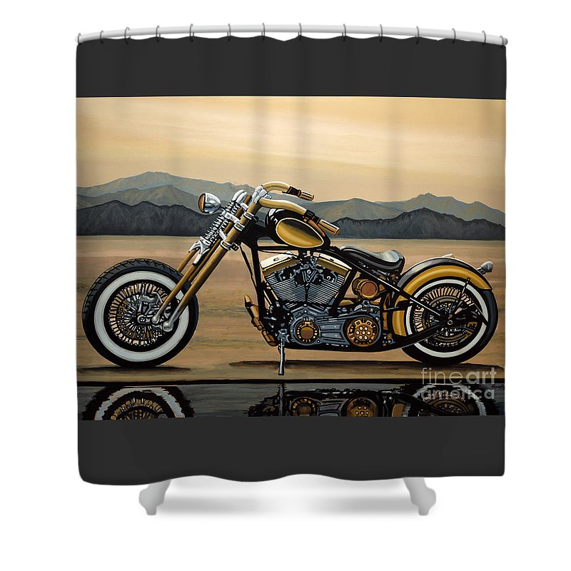 Harley Davidson Shower Curtain For Sale By Paul Meijering