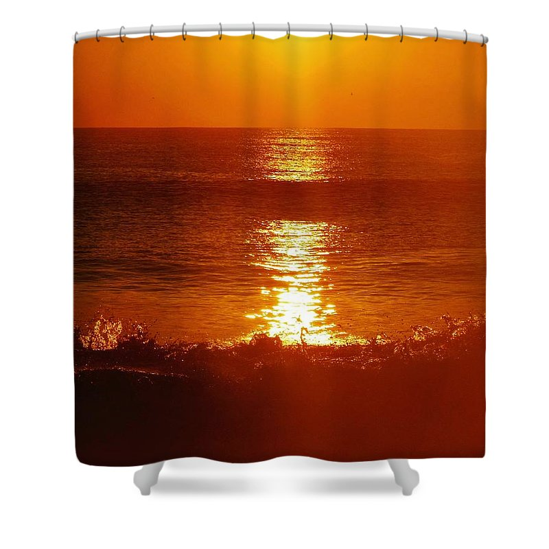 Mark Lemmon Cape Hatteras Nc The Outer Banks Photographer Subjects From Sunrise Shower Curtain featuring the photograph Hatteras Island Sunrise 12 10/2 by Mark Lemmon