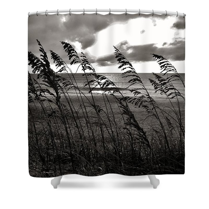 Outer Banks North Carolina Obx Sunrise Sea-oats Beach Ocean Shower Curtain featuring the photograph Hatteras Island Sunrise 18 9/3 by Mark Lemmon