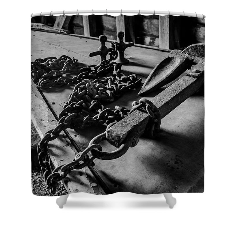 Anchor Shower Curtain featuring the photograph Hauled Anchor by Kaleidoscopik Photography