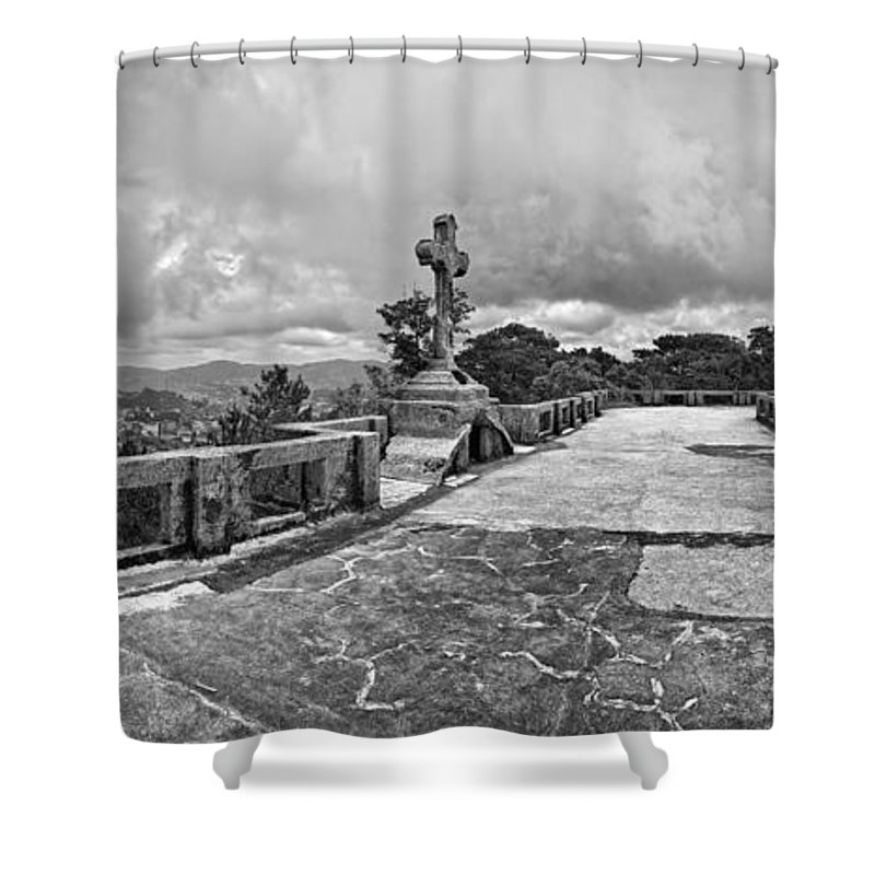 Photography Shower Curtain featuring the photograph Haunted Diplomat Hotel, Baguio City by Panoramic Images
