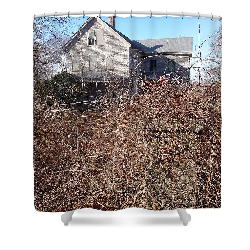Farmhouse Shower Curtain featuring the photograph Haunting by Robert Nickologianis