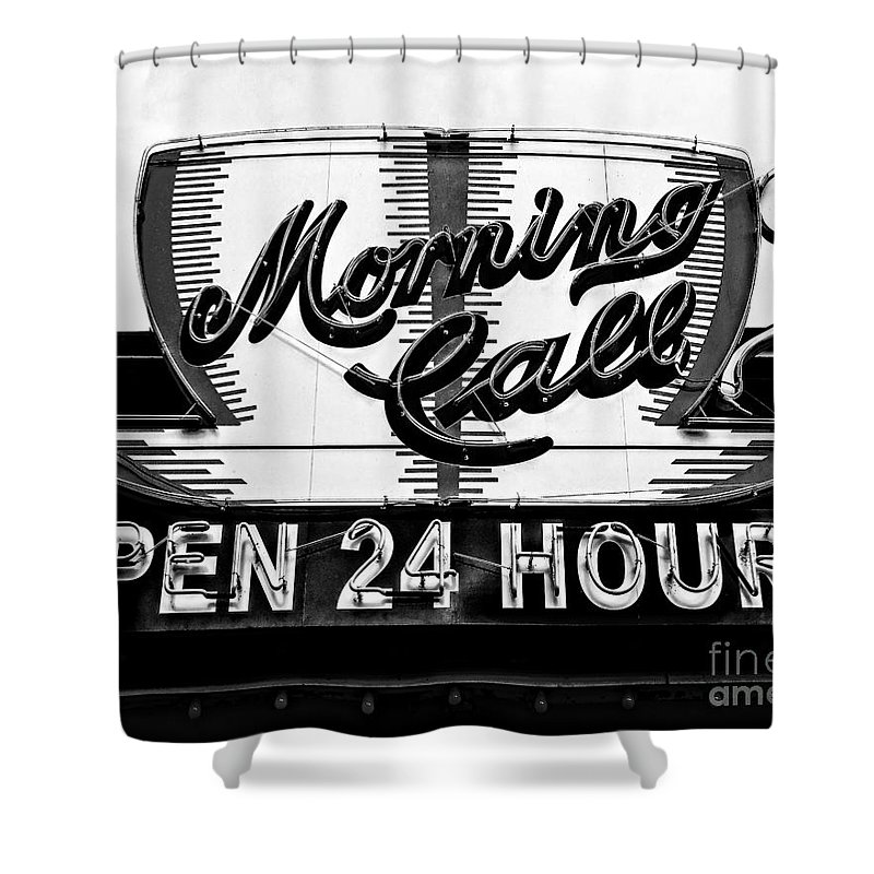 Morning Call Shower Curtain featuring the photograph Have A Cup Of Coffee At Morning Call New Orleans by Kathleen K Parker