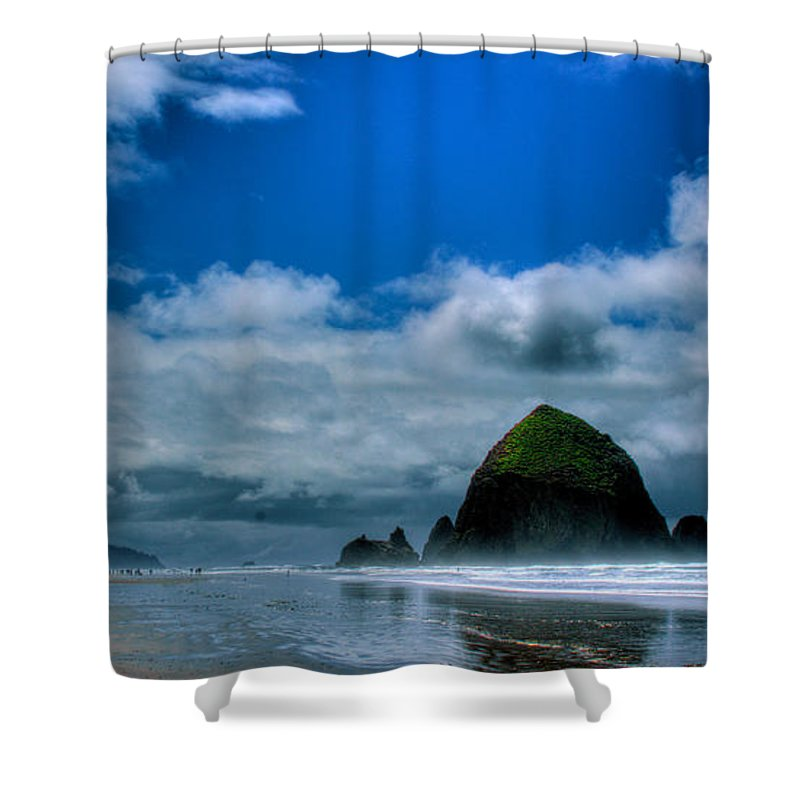 Cannon Beach Shower Curtain featuring the photograph Haystack Rock V by David Patterson
