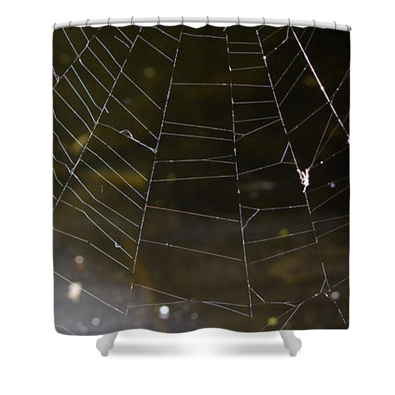 Abstract Shower Curtain featuring the photograph Hazy Web by Brent Dolliver