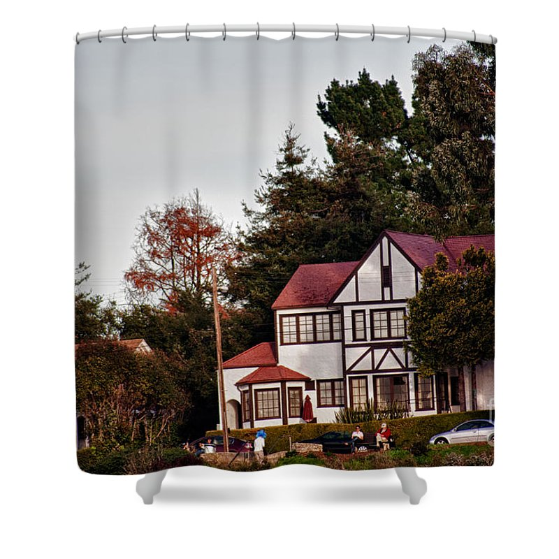 Hdr Shower Curtain featuring the photograph hd 374 hdr - Depot Hill 1 by Chris Berry