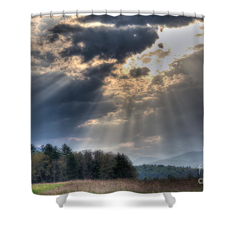 Clouds Shower Curtain featuring the photograph Hdr April 28 2014 Two by Douglas Stucky