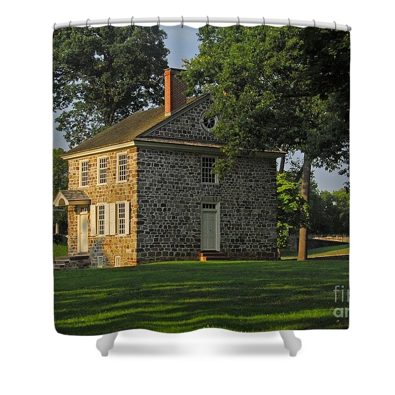 History Shower Curtain featuring the photograph Headquarters For Gw by Cindy Manero