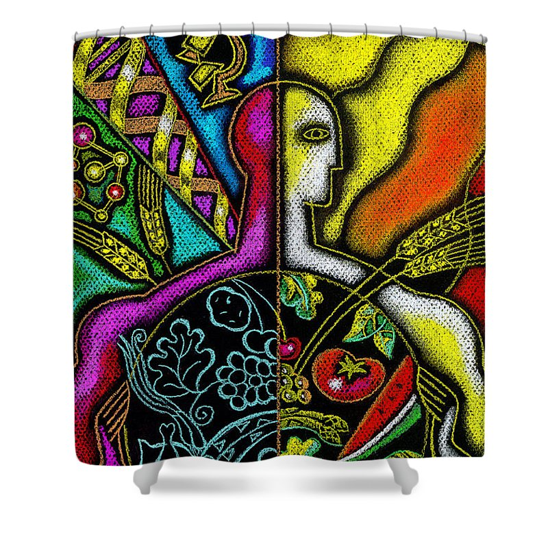 Developed Paintings Shower Curtains