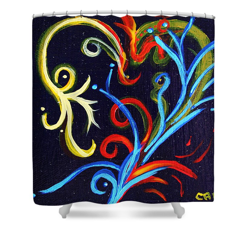 Heart Shower Curtain featuring the painting Heart # 101  Prints Available But Original Sold by Chesney Rheaume