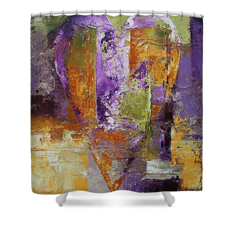 Heart Shower Curtain featuring the painting Heart # 109 - Original Available by Chesney Rheaume