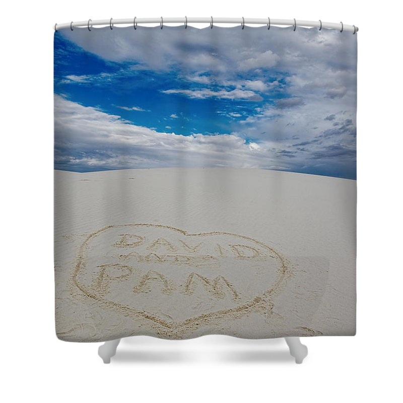 Heart Shower Curtain featuring the photograph Heart In The Sand by David Arment