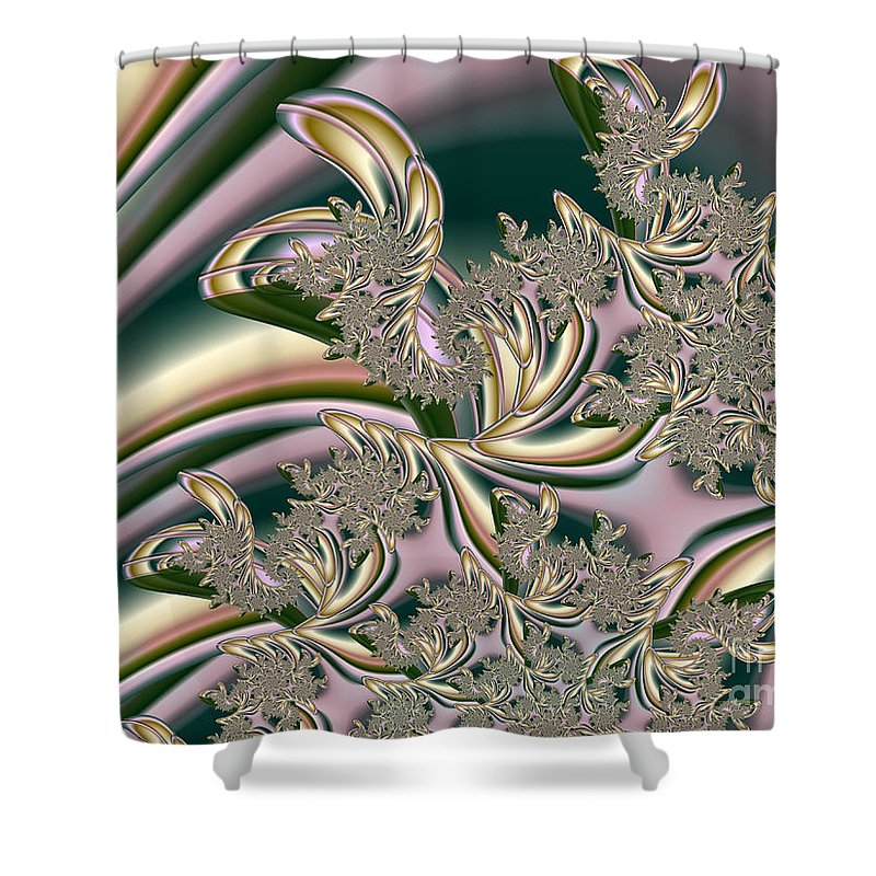 Hearts Desire Shower Curtain featuring the digital art Hearts Desire by Kimberly Hansen