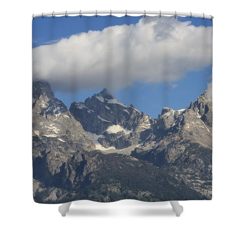 Grand Tetons Wyoming Mountains National Parks Shower Curtain featuring the photograph Heaven Meets Earth by Michael Cressy