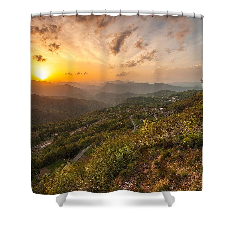 Landscapes Shower Curtain featuring the photograph Heaven On Earth by Davorin Mance