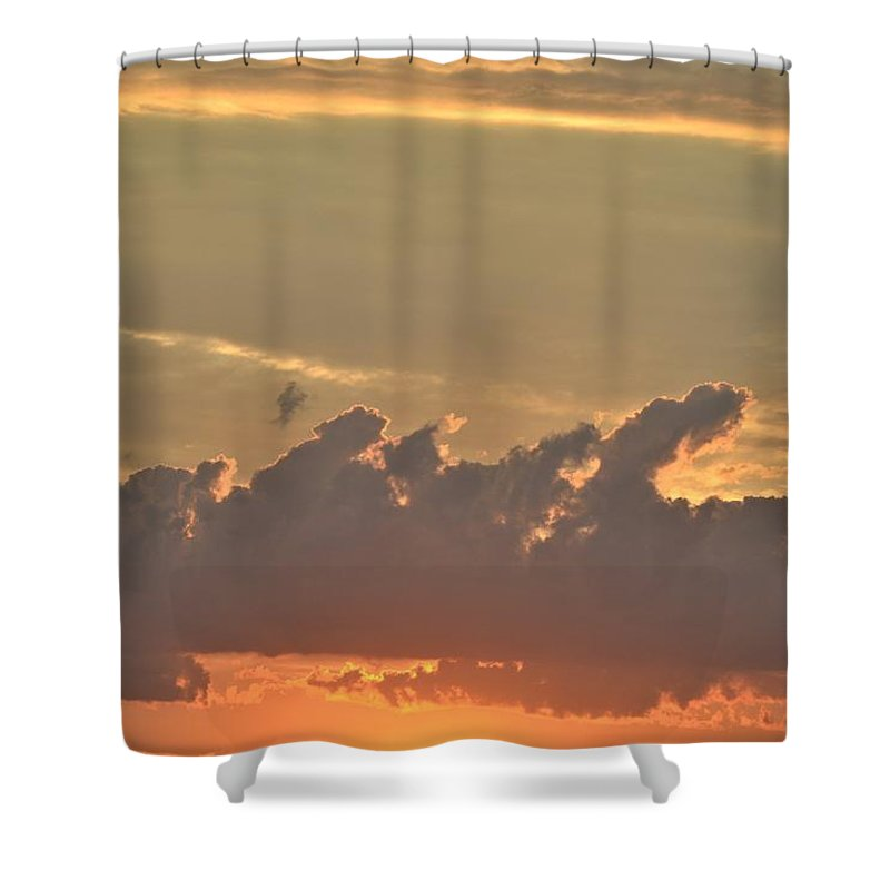 Clouds Shower Curtain featuring the photograph Heavenly Clouds by Tara Potts
