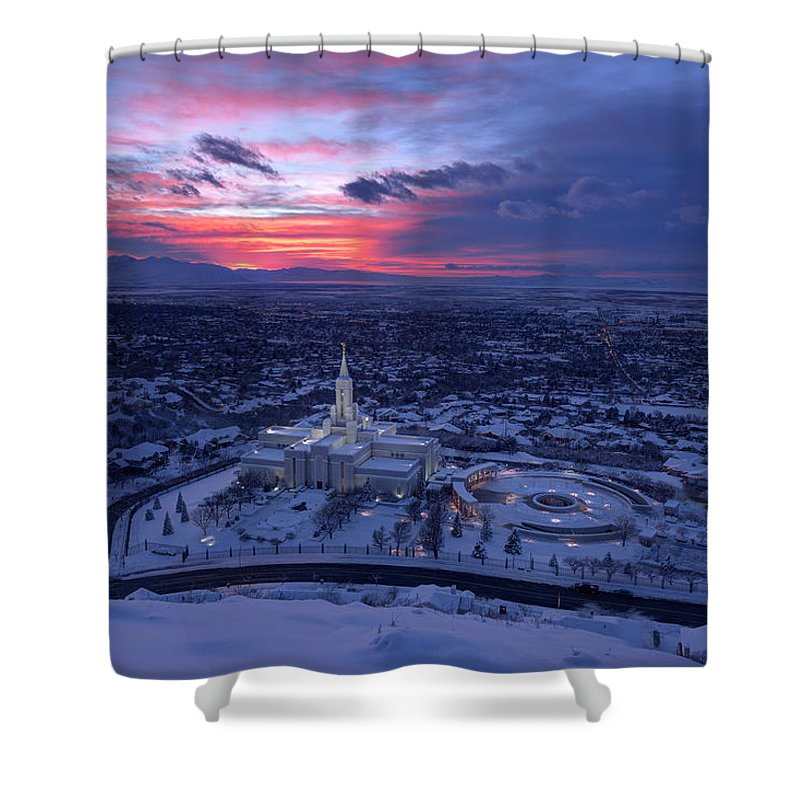 Mormon Shower Curtain featuring the photograph Heavenly View by Dustin LeFevre