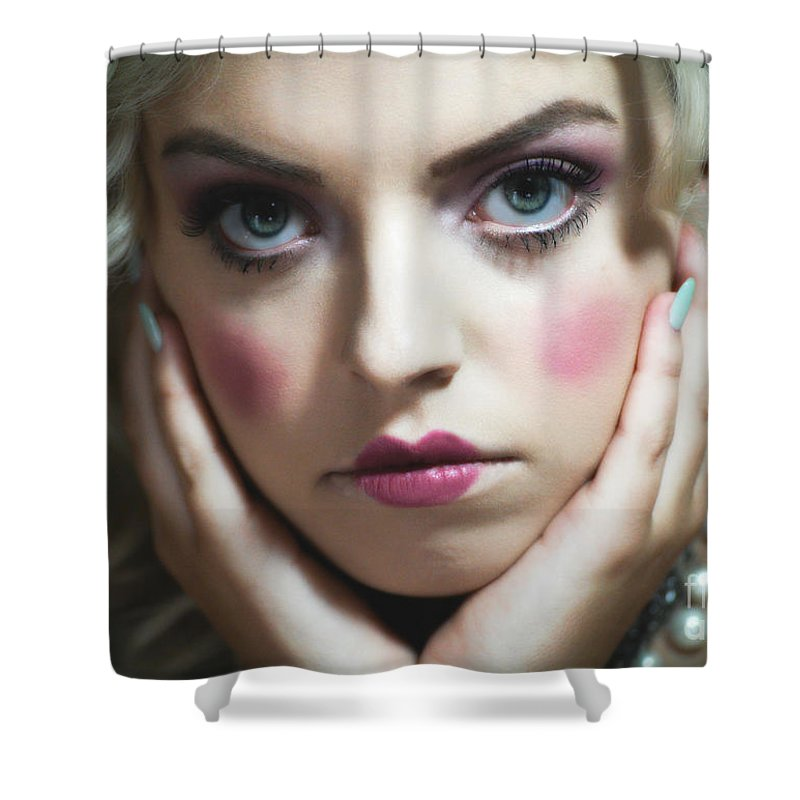 Face Shower Curtain featuring the photograph Held Dear by Chanel Fernandez