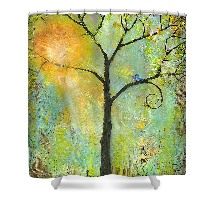 Green Tree Shower Curtains