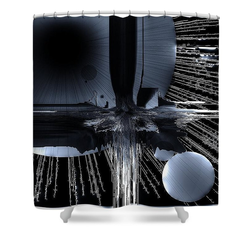 Outer Space Shower Curtain featuring the digital art Helm Of Darkness by Michael Damiani