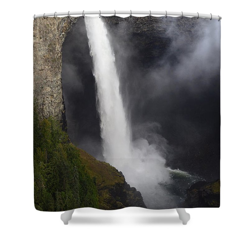 Helmcken Shower Curtain featuring the photograph Helmcken Falls 2 by Bob Christopher