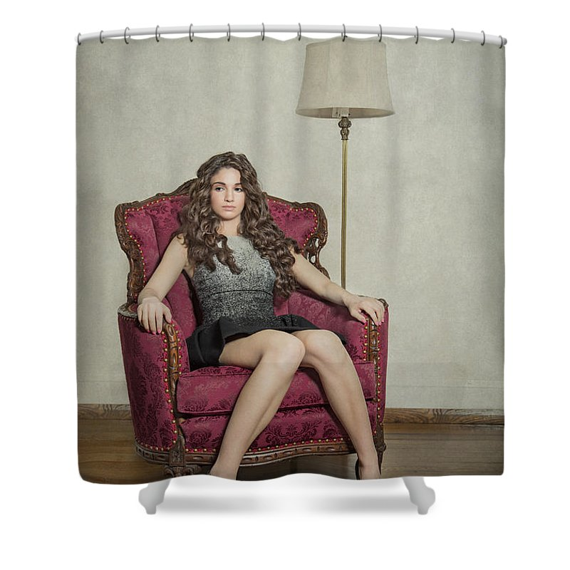 Girl Shower Curtain featuring the photograph Her Majesty by Evelina Kremsdorf