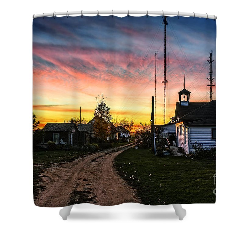 Cityscape Shower Curtain featuring the photograph Heritage Village by Viktor Birkus