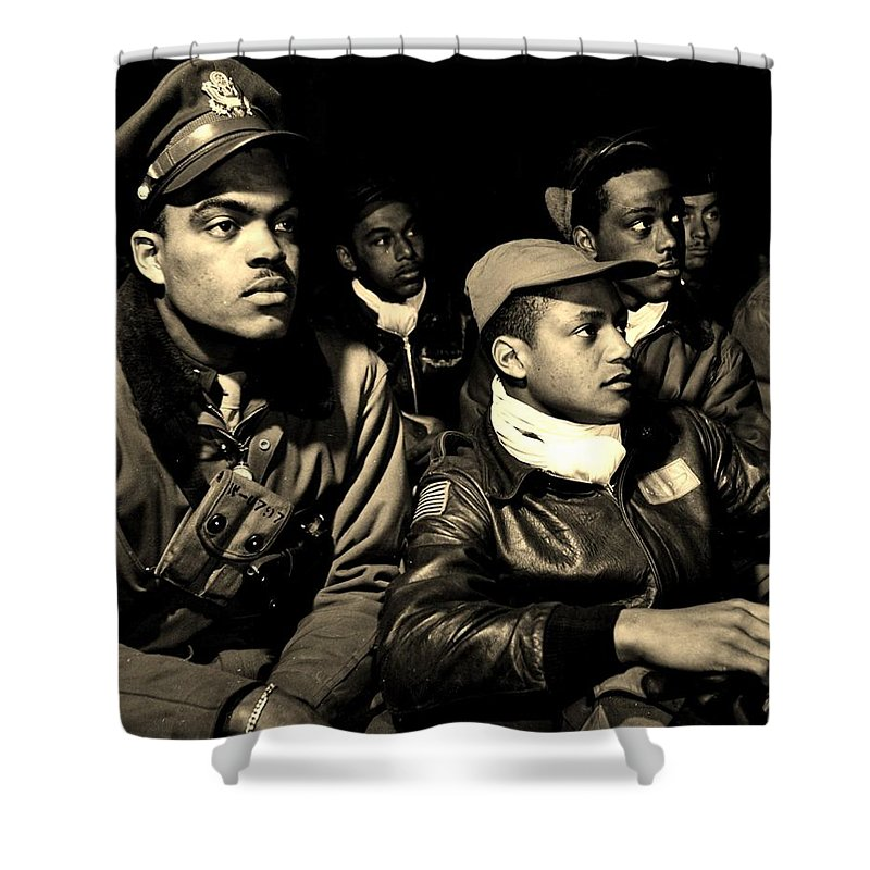 Tuskegee Shower Curtain featuring the photograph Heroes by Benjamin Yeager