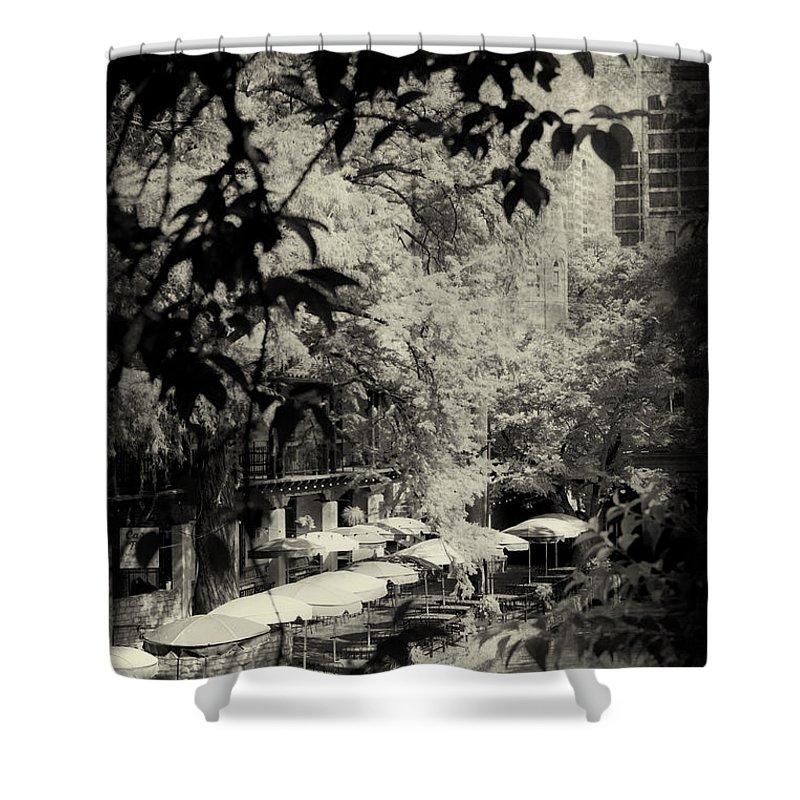 River Walk Shower Curtain featuring the photograph Hidden View by Erika Weber