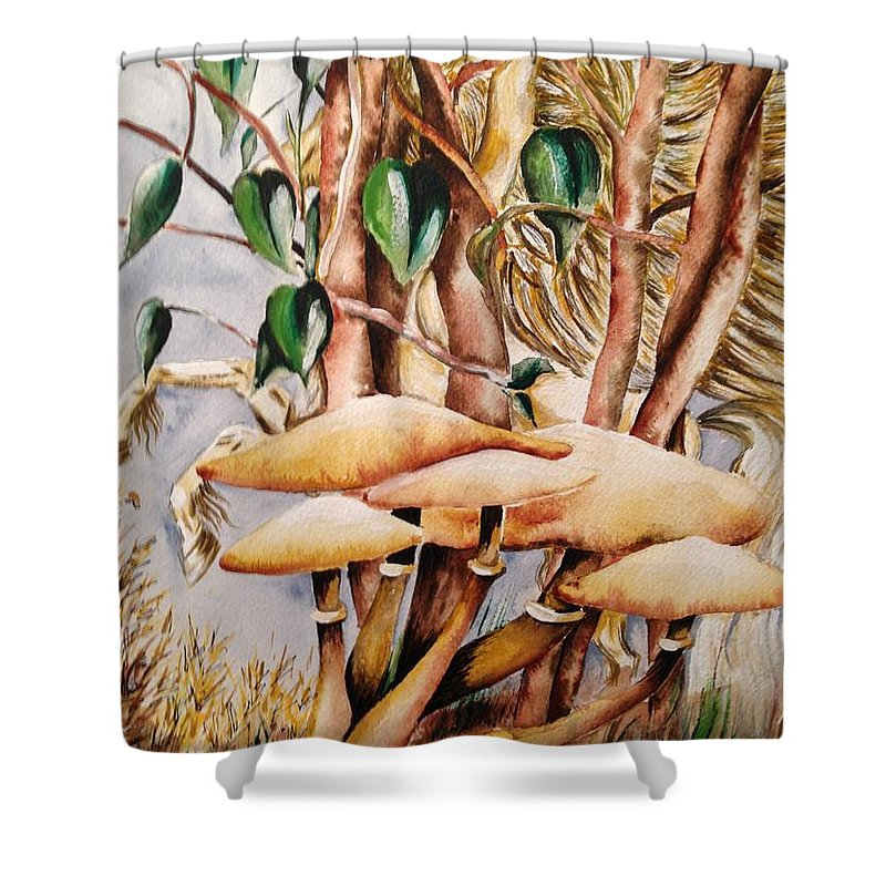 Magic Shower Curtain featuring the painting Hide And Seek by Karen Ferrand Carroll